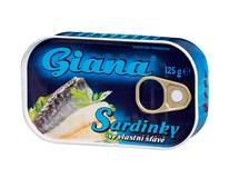 Giana Sardinky vo vlastnej šťave 10x125 g