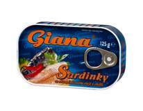 Giana Sardinky olej s chilli 10x125 g