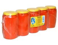 Sviečka náhrobná olejová vklad červená 150g Theresia 5ks