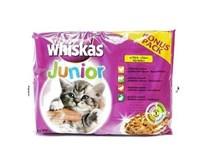 Whiskas junior vrecúško s mäsom weet cat 4x100 g