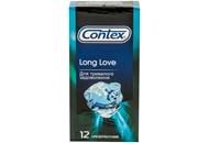 Презервативи Contex Long Love з силіконовою змазкою 12шт