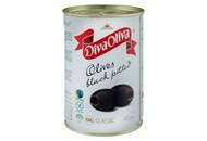 Маслини Diva Oliva чорні без кісточки 425мл