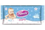 Серветки вологі Smile Baby з екстр ромашки ультрам`які 60шт