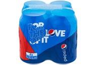 Напій Pepsi безалкоголний сильногазований 0,33л*4шт 1,32л