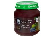 Пюре Gerber яблуко і чорниця для дітей з 6 місяців 130г