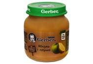 Пюре Gerber фруктове яблуко і груша для дітей з 6 міс 130г