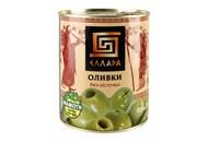 Оливки Еллада зелені без кісточки 850мл