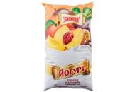 Йогурт Злагода Персик-маракуйя нежирний 900г