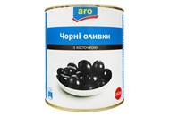 Оливки Aro чорні з кісточкою 2800г