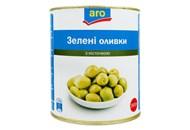 Оливки Aro зелені з кісточкою 2800г