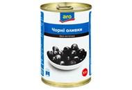 Оливки Aro чорні без кісточки 300г