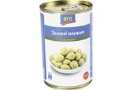 Оливки Aro зелені з кісточкою 300гр