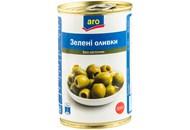 Оливки Aro зелені без кісточки 300г