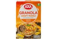 Сніданки сухі Axa Мюслі хруст медові з тропічн фрукт 375г