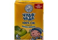 Сік Чудо-Чадо Банан-яблуко з м`якоттю 0,2л