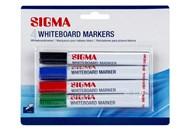 Маркери Sigma для білої дошки 4шт