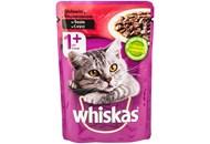 Корм для котів Whiskas з яловичиною в соусі 100г
