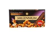 Шоколад Millennium Gold чорний з цілими лісовим горіхом 100г