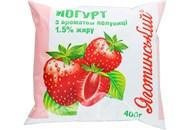 Йогурт Яготинський з ароматом полуниці 1,5% 400г