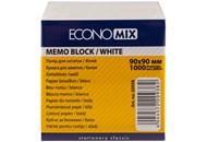Папір для нотаток 90х90 мм Economix, 1000 арк., білий макулатурний