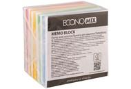 Папір для нотаток 90х90 мм Зебра Economix, 1000 арк., кольоровий