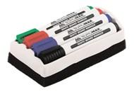 Маркер Buromax №BM.8800-84 з губкою для магніт дошок 5штуп