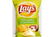 Чіпси Lay`s картопляні смак білих грибів та сметани 133г