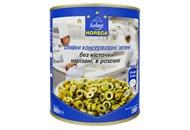 Оливки Horeca Select зелені без кіст нарізані в розсолі 3кг