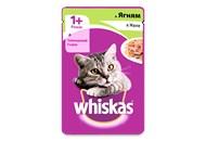 Корм для котів Whiskas 1+ ягня в желе 100г