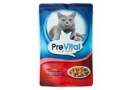 Корм для котів PreVital М`ясні шматочки з яловичиною 100г
