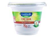 Сметана LatteR безлактозна термостатна 15% 200г