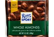 Шоколад Ritter Sport молочний з мигдалевим горіхом 100г