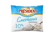 Сметана President 10% 350г