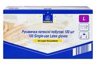 Рукавички Horeca Select латексні побутові розмір L 100шт