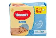Серветки вологі Huggies Pure дитячі 56шт*3уп 168шт