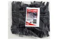 Виделки пластикові Quickpack for home чорні 100шт
