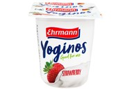 Йогурт Ehrmann Yoginos персик-маракуйя 0,1% 100г*4шт 400г