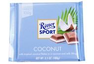 Шоколад Ritter Sport молочний з начинкою кокос 100г