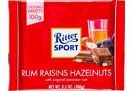Шоколад Ritter Sport молочний з ямайським ромом 100г
