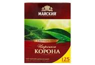 Чай Майский Царська корона чорний байховий 2г*125шт 250г