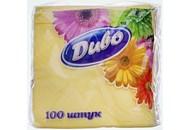 Серветки паперові Диво жовті 1-шарові 240*240мм 100шт