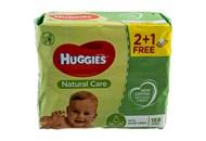 Серветки вологі Huggies Natural Care дитячі 56шт*3уп 168шт