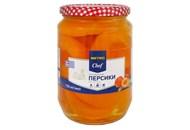 Персики Metro Chef половинками в легкому сиропі 720мл