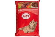 Корм для котів Мяу з м'ясом рисом та овочами сухий 11кг