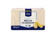 Масло Metro Chef Селянське солодковершкове 73% 200г