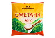 Сметана Галичанська 20% 400г