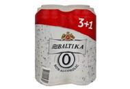Пиво Baltika Non-alcoholic №0 світле 0.5% 4*0.5л/уп