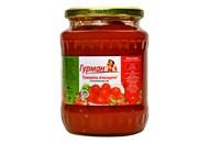 Томати Гурман очищені в томатному соку стерилізовані 680г
