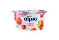 Йогурт соєвий Alpro з малиною та журавлиною 150г