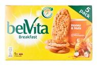Печиво Belvita Сніданок мед горіхи та шоколад 45г*5шт 225г